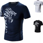 Tattoo printing round neck Short  sleeve Loose T-shirt round collar T-shirt LAUS