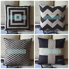 """Cushion Cover Retro Lovely Geometric Pattern Pillow Case Home Decor Square 18"""""""