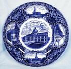Norristown Pa 100th Anniversary Plate Rowland & Marcellus 1912 Blue Transferware