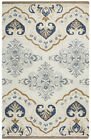 Rizzy Rugs Gray Petals Diamonds Curves Contemporary Area Rug Floral VN9455
