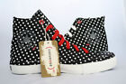 ( Converse ) RED Chuck Taylor AS Unisex Black with White Hearts Hi 114021F