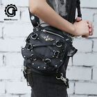 3WAY GOTHIC PUNK BLACK 17559 WAIST INCLINED BAG SHOULDER BACK
