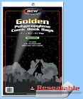 BCW: Comic Bags: RESEALABLE: GOLDEN or GOLDEN-THICK:  200ct    *FREE SHIP in USA