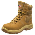 """Iron Age 8"""" Work Boots Men's Tan Leather Composite Toe Shoes Waterproof Comfort"""