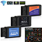 WiFi ELM327 OBDII OBD2 Diagnostic Auto Car Scanner Tool For iPhone/ Android/ PC
