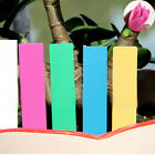 Yoocart 100 Pack Coloured Plastic Plant Labels Markers Garden Stick In Plant