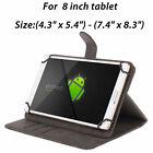 "360 Rotating Stand Folio Leather Case Cover Skin for Android Tablet 7"" 8"" 10"""