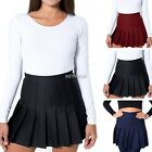Womens Slim Thin High Waist Pleated Tennis Skirts Mini Dress Playful Fashion JG#
