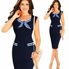 Dress Dresses Slim Work Wear Pencil skirt New Peplum Party Dress Women's  AB