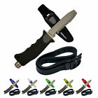 Внешний вид - Blunt Tip Stainless Steel Scuba Diving Divers Knife with Rubber Straps Handle