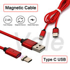 1M Braided Magnetic Type C USB Date Sync Cable Fast Chargeing Adapter For Phones