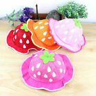 Cute Sunhats Girls Strawberry Kids Caps Basin cap Soft Light Color Fashion AB