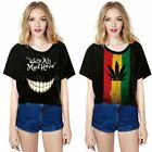 Short Sleeve Digital Printing T-Shirt Creative Loose Lady Blouse Tops Women
