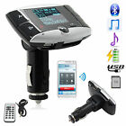 "New 1.5"" LCD Wireless FM Transmitter MP3 Playe Bluetooth Hands-free Call Car Kit"
