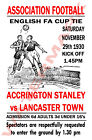 Accrington Stanley - Vintage Football Poster POSTCARDS - Choose from list