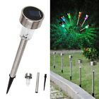 Solar Power LED Path Lighting Outdoor Garden Lawn Lamp Colorful Stainless Steel