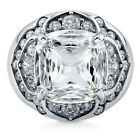 BERRICLE Sterling Silver CZ Dome Fashion Right Hand Cocktail Statement Ring