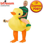 K354 Riding Duck Animal Adult Fan Inflatable Fancy Costume Suit Funny Outfit