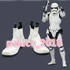NEW !Star Wars The Force Awakens Stormtrooper White Short Cosplay Shoes Boots $49.0 USD