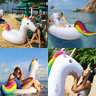 Inflatable Giant Rainbow Unicorn Shaped Pool Float Ring Raft Swimming Water Toys