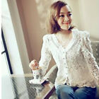 Fashion Womens Summer Long Sleeve Shirt Casual Blouse Cotton Tops T Shirt New