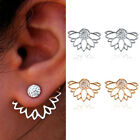 Elegant Fashion Women Silver Plated Crystal Rhinestone Ear Stud Flower Earrings