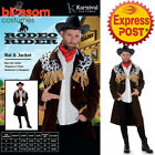 CA249 Rodeo Rider Cowboy Western Wild West Mens Party Fancy Dress Mens Costume