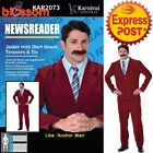 CA253 Newsreader Anchorman Ron Burgundy 70s Mens Comedy Fancy Dress Up Costume