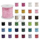 80M/Roll Waxed Cotton Macrame Cord Jewellery Thread String Beading 0.8/1/1.5/2mm