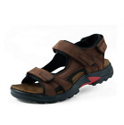 Mens Leather Sandals Summer Open Toe Sandles Sport Sandal Hiking Casual Shoes Yh