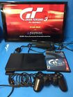 Sony PlayStation 2 Slim Console ps2 Black SCPH-70001 Bundle Controller Game DX
