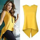 Fashion Women's Lady Summer Sleeveless Slim Blouse Casual Shirt Tops T-Shirt