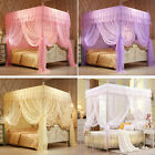 Princess Flowers Bed Canopy Mosquito Netting Twin Full Queen King Size 4 Colors