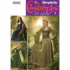 Simplicity SEWING PATTERN 4940 Misses Medieval/Fantasy Costumes 10-18 or 20-26