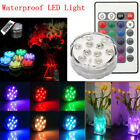 LED Remote Control RGB Tea Light Submersible Waterproof Vase Light Home Decor