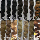"New 18""~26"" Real Remy Body Wave Weft Human Hair Extensions Weave 100g Any Color"