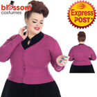 RKH110 Wine Hearts and Roses H&R 1950s Rockabilly Cardigan Cropped Knitted Top