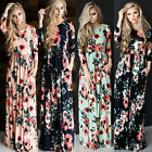 New Women BOHO Long Evening Party Cocktail Prom Floral Summer Beach Maxi Dres