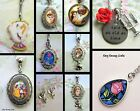 DISNEY BEAUTY AND THE BEAST PRINCESS BELLE NECKLACE LOCKET KEYRING BRACELET