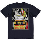 SRM Roots In Hell Marihuana Vintage Poster Print 1936 Tee Navy