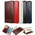 Leather Wallet Case Magnetic Flip Cover Stand For Apple iPhone 7 6S Plus Samsung