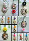 DISNEY ROSE OVAL CHARM PENDANT NECKLACE RAPUNZEL ANNA ELSA SNOW WHITE BELLE