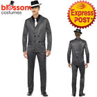 CA270 Mens Gangster Boss Mob 20s 1920s Pinstripes Pimp Suit Fancy Dress Costume