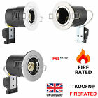 4 10x Fire Rated Downlights Mains GU10 Recessed Ceiling Tiltable Twist & Lock