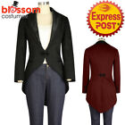 RK129 Tuxedo Jacket With Tail Costume Punk Lined Retro Gothic Rockabilly Pin Up