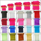 25 - 100 Organza Gift Bags Luxury Wedding Party Favour Jewellery Packing Pouches