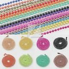 28 Inch U Pick Ball Metall Bead Connector Fastener Chain Necklace 1.5/2.4mm BB