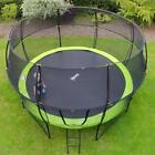 Rebo Base Jump Trampoline With Halo II Enclosure - 4 Sizes 8ft 10ft 12ft 14ft