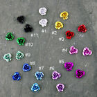 60 Colorful Anodized Aluminum Rose Flowers filigree Charms 6mm bf34 PICK