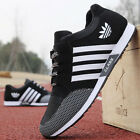 Men Sneakers Canvas Mesh Fashion Breathable Sports Running Casual Shoes UK #ABC